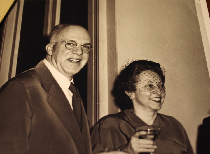 An older Raymond Earl Hill, still known to my family as Cap, with his second wife, Sybil Wardwell Hill (d. June 29, 1988).