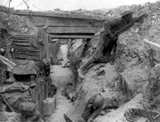 A typical WWI trench (Somme, 1916).
