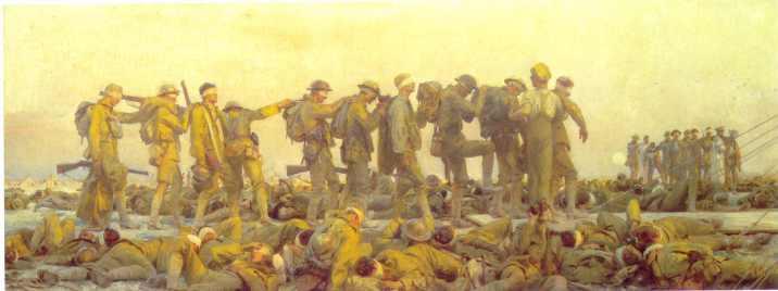 """""""Gassed"""" by John Singer Sargent."""