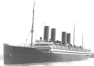 The SS Kaiser Wilhelm II (Agamemnon) — the transport ship that conveyed Capt. Hill and much of the 365th Infantry Division to France.