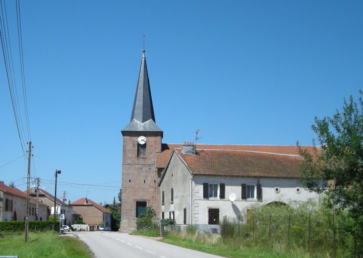 The Church of the Assumption in La Voivre, France.