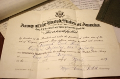 Cap's official military record (May 18, 1917 - March 19, 1919)