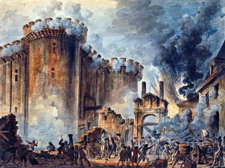 Storming of the Bastille, by Jean-Pierre-Louis-Laurent Houel
