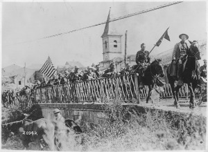 American engineers returning from the St. Mihiel front.