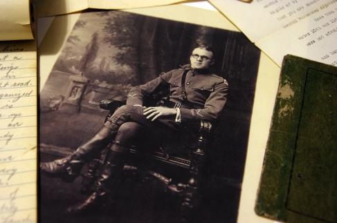 A military portrait of Captain Raymond Earl Hill