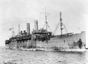 The SS George Washington in service during World War I